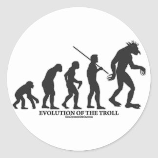 Evolution of the Troll Round Sticker