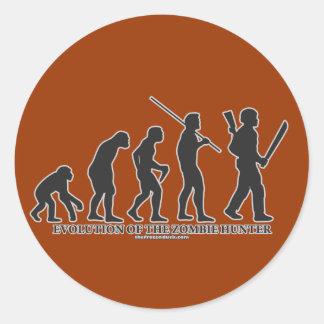 Evolution of the Zombie Hunter Round Sticker