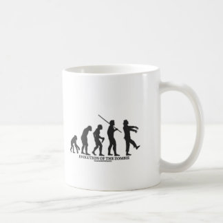 Evolution of the Zombie Classic White Coffee Mug