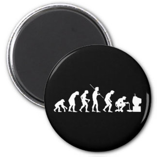 Evolution of Video Games Gaming Gamer 6 Cm Round Magnet