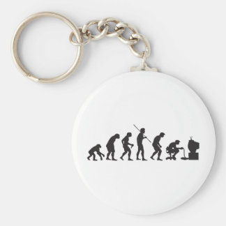 Evolution of Video Games Gaming Gamer Key Chain
