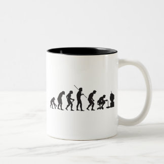 Evolution of Video Games Gaming Gamer Two-Tone Coffee Mug