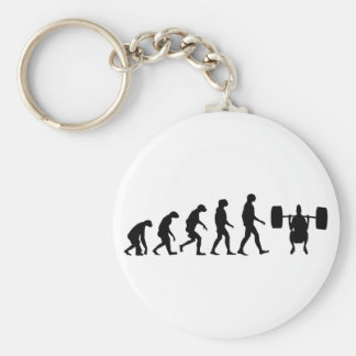 Evolution of Weightlifting Basic Round Button Key Ring