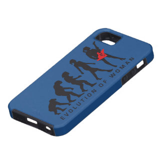 evolution OF woman female e-guitar more player iPhone 5 Cover