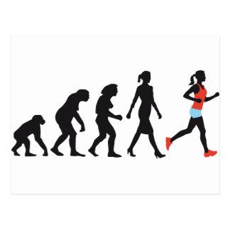 evolution OF woman female more jogger Postcard