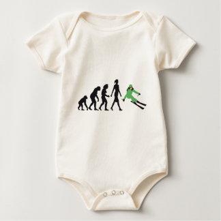 evolution OF woman skiing Baby Bodysuit