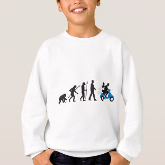 evolution OF woman wedding more scooter Sweatshirt