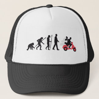 evolution OF woman wedding more scooter Trucker Hat