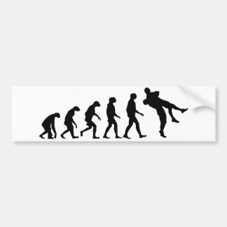 Evolution of Wrestling Bumper Sticker