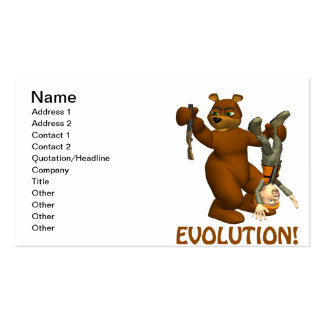 Evolution Pack Of Standard Business Cards