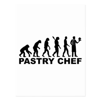 Evolution pastry chef postcard