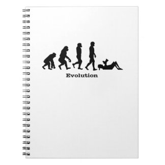 Evolution Photographer  Shutter Gift Photography Spiral Notebook