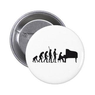 evolution piano 6 cm round badge