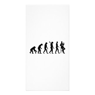 Evolution Poker player Personalized Photo Card