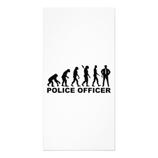 Evolution Police Officer Customized Photo Card