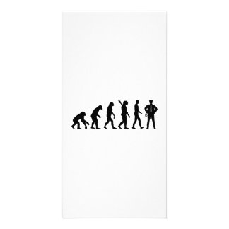 Evolution Police Photo Greeting Card