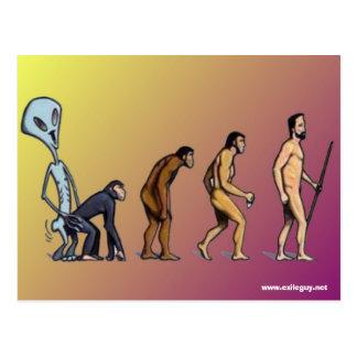 evolution postcard