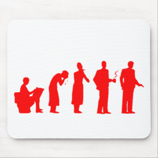 evolution red mouse pad