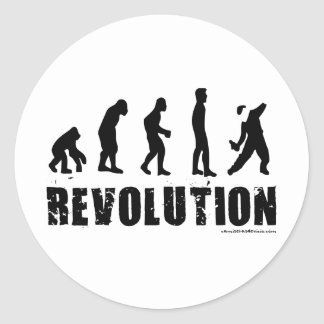 Evolution Revolution Classic Round Sticker