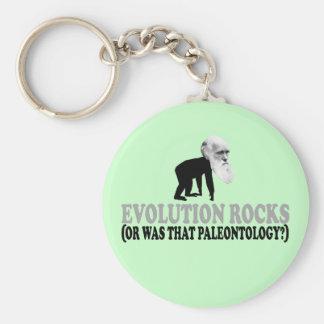 Evolution rocks key ring