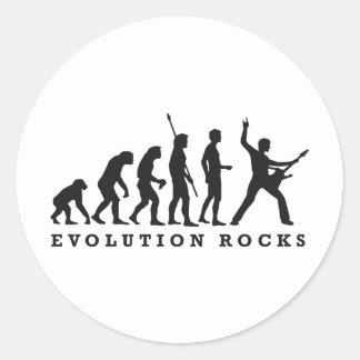 evolution rocks round sticker