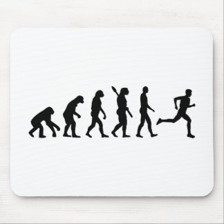 Evolution running marathon mouse pad