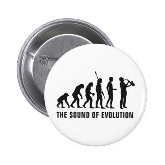 Evolution saxophone 6 cm round badge
