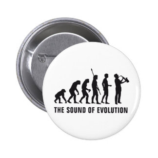 Evolution saxophone 6 cm round badge