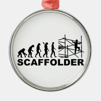 Evolution scaffolder Silver-Colored round decoration