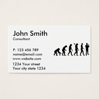 Evolution security guard business card