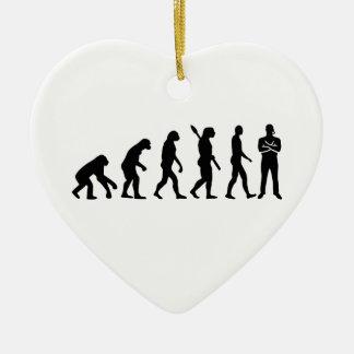 Evolution security guard ceramic heart decoration