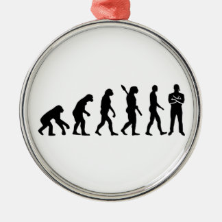 Evolution security guard metal ornament