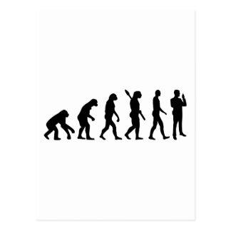 Evolution security guard postcard