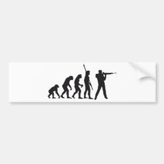 evolution shooting bumper sticker