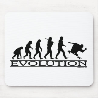 Evolution - Skateboarding - Male Mouse Pad
