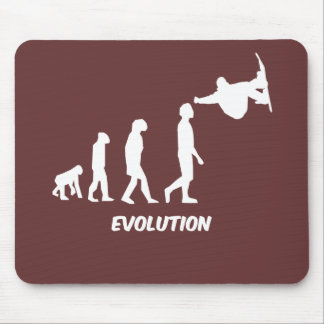 evolution skateboarding mouse pad