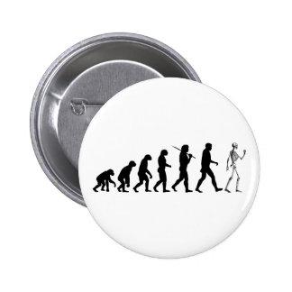 Evolution Skeleton 6 Cm Round Badge
