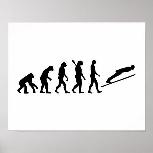 Evolution ski jumping print