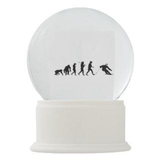 EVOLUTION SKIER FUNNY SNOWBOARD snow globe