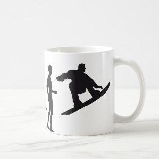 evolution snowboard coffee mug