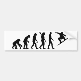 Evolution Snowboarding Snowboard Bumper Sticker