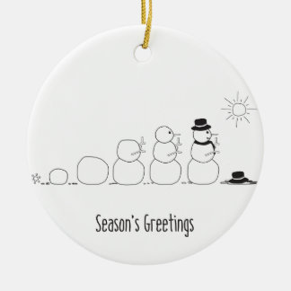 Evolution Snowman Style Christmas Ornament