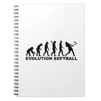 Evolution Softball Spiral Notebook
