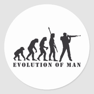 evolution sport more shooter round sticker