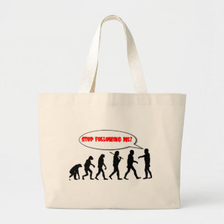 Evolution. Stop Following Me Tote Bags