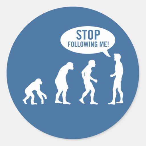evolution - stop following me! sticker