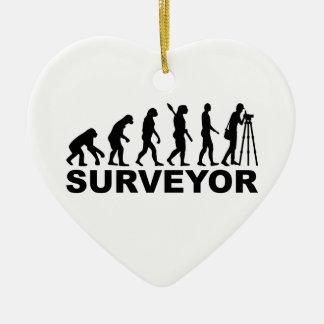 Evolution surveyor ceramic ornament