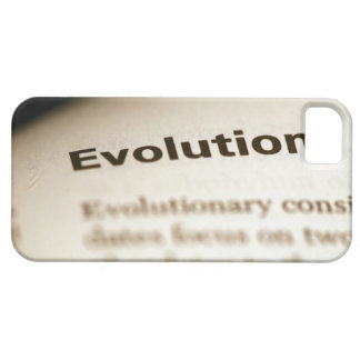 Evolution text on page iPhone 5 case