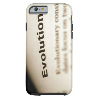 Evolution text on page tough iPhone 6 case