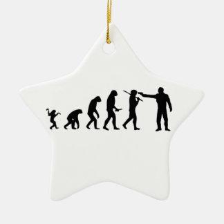 Evolution theory ceramic star decoration